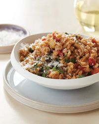 Cheesy Farro-and-Tomato Risotto