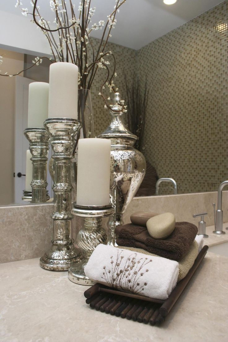 Best 25 half bath decor ideas on pinterest half - How to decorate a bathroom counter ...