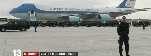 Le célèbre avion Air Force One du président américain s'est posé à Paris. C'est une vraie visite d'Etat, pendant laquelle l'accent sera mis sur les symboles de l'amitié franco-américaine.