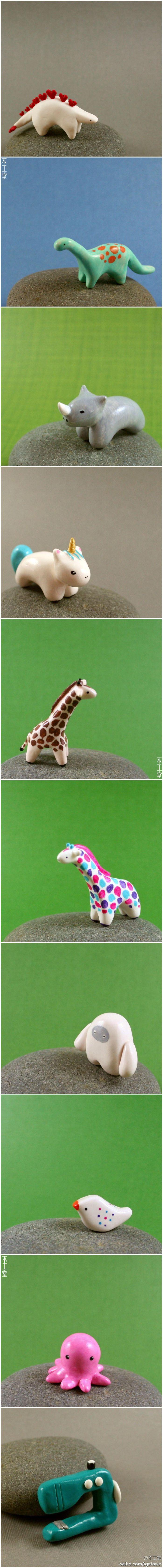 i like the stegosaurus, the dynosaurus below it and the multicolored giraffe