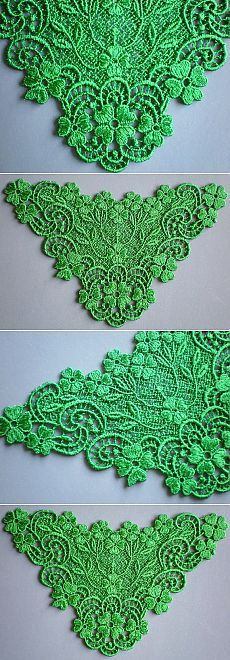 Kelly Green Embroidered Irish Lace by ElsieMichelleDesigns on Etsy