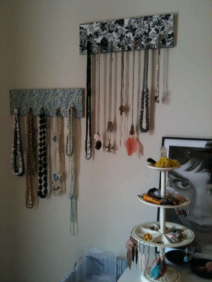 Necklace Hangers I made this week