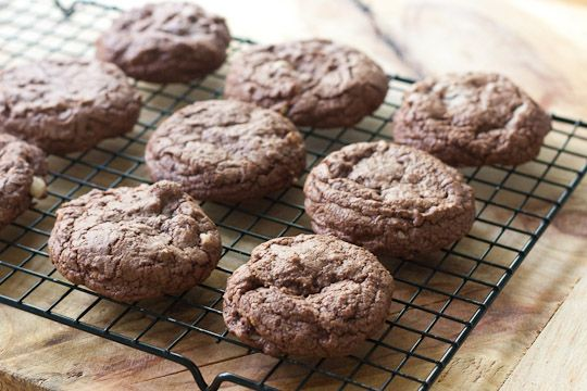 Soft Chocolate Hazelnut Cookies | Delicious Things to Make | Pinterest