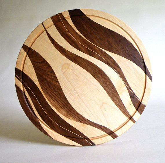 Items similar to Cutting Board Wood Kitchen Serving Board Chopping Block Serving Platter on Etsy