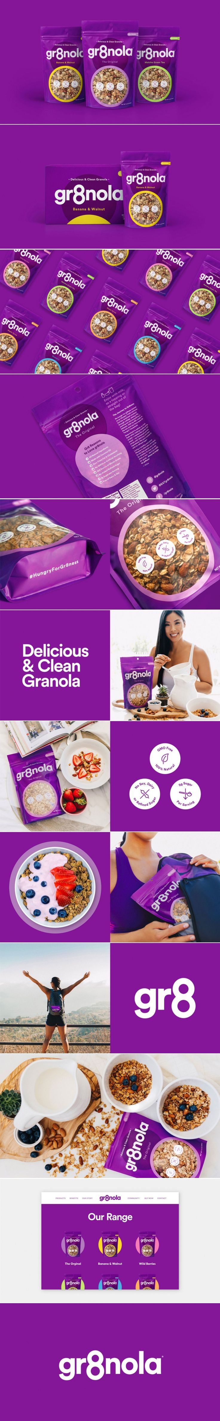 Get Your Day Started Right With Gr8nola — The Dieline | Packaging & Branding Design & Innovation News