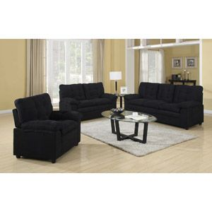Buchannan Microfiber 3 Piece Living Room Set
