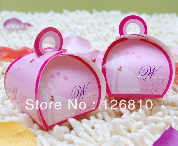 300pcs/lot Creative Personality Cute Cartoon Pink Color Wing Wedding Favors Candy Boxes For Party Gift-in Event & Party Supplies from Home & Garden on Aliexpress.com