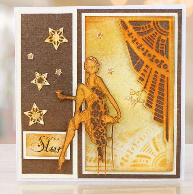 Tattered Lace Die - Deco Gatefold Card