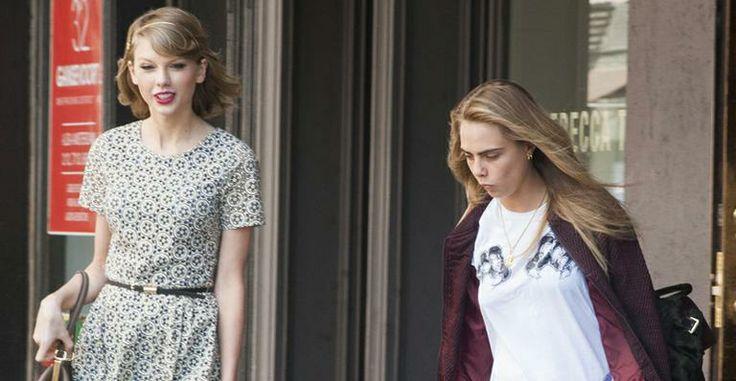 Cara Delevingne, namorada de Michelle Rodriguez, passeia com Taylor Swift em Nova York