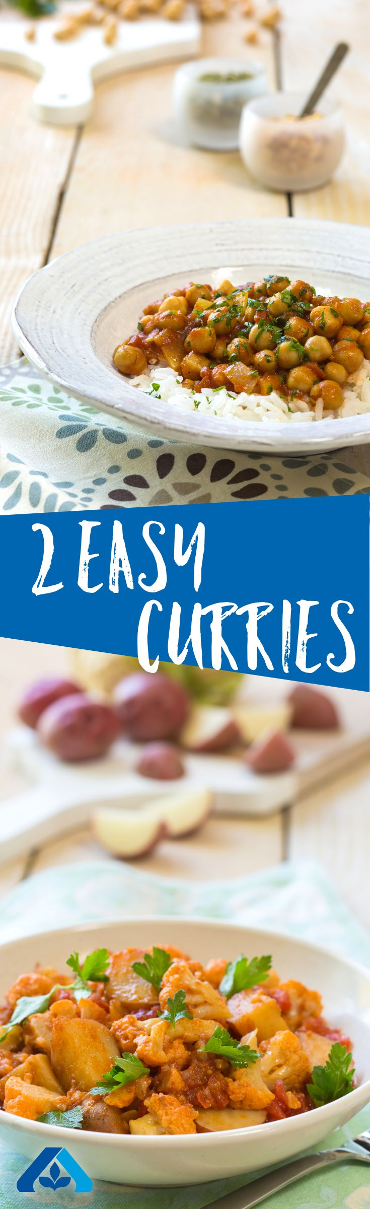 Curry in a hurry! These two super simple curry recipes will take less than 30 minutes each to make and are packed with full flavors and valuable nutrients.