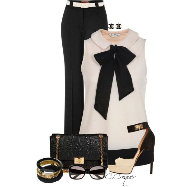 Black Bow Blouse by ccroquer on Polyvore featuring moda, Missoni, Givenchy, Emilio Pucci, River Island and Reiss