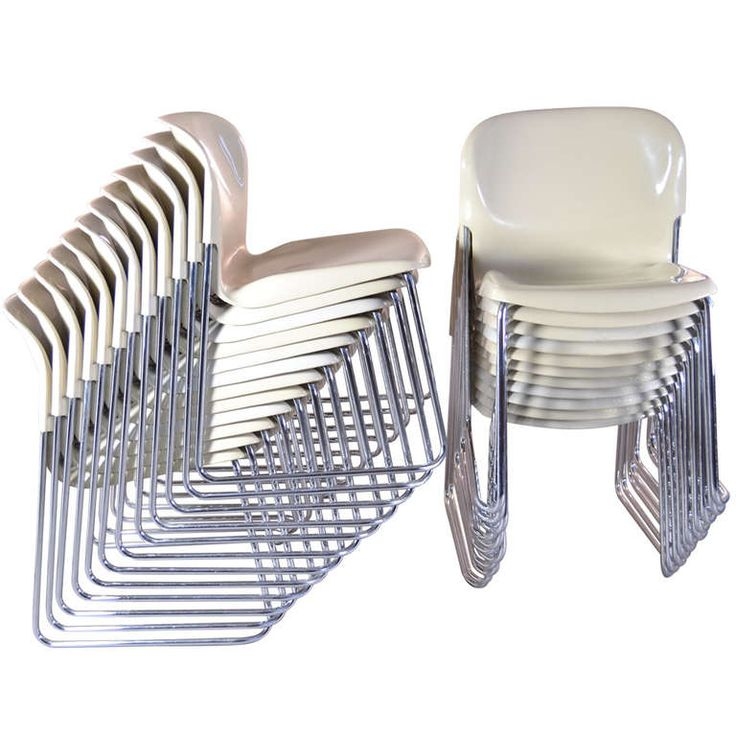 Nova Stacking Chairs by Gerd Lange for Drabert, West Germany
