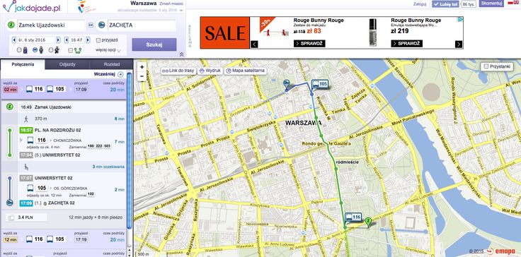 JAK DOJADE synchronizacja z komunikacją miejską