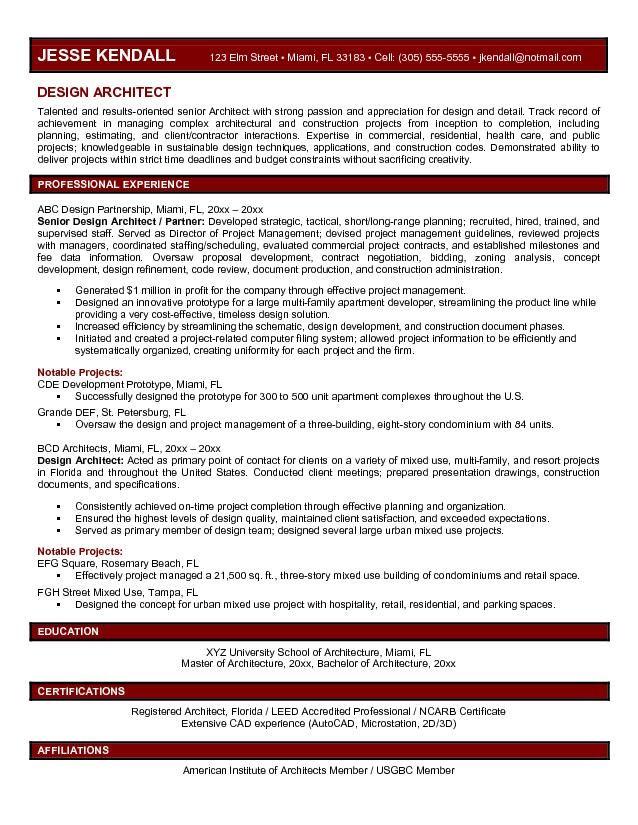 resume objective for architect data architect resume objective