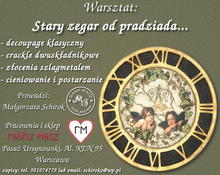 Warsztat: Stary zegar od pradziada...