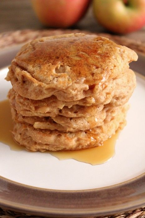 Apple Cinnamon Pancakes for One: Apples Cinnamon, Cinnamon Apples, Breakfast Food, Cinnamon Pancakes, Apples Pancakes Every, Pancakes For On Recipes, Healthy Food, Breakfast Pancakes, Breakfast Recipes