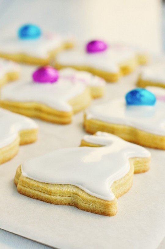 Marzipan-filled cookies. These are in the shape of bunnies for Easter, but I'd love to try them in other shapes year-round.