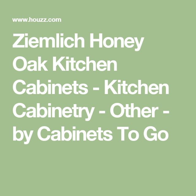 Ziemlich Honey Oak Kitchen Cabinets - Kitchen Cabinetry - Other - by Cabinets To Go