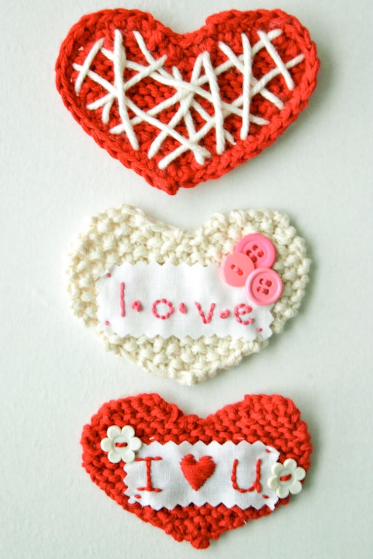 DIY: sweetheart knit valentineHomemade Valentine, Valentine Day, Sweetheart Knits, Diy Tutorials, Knits Valentine, Crochet Heart, Valentine Ideas, Valentine Diy, Tutorials Crochet