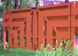 Mid-century modern gate