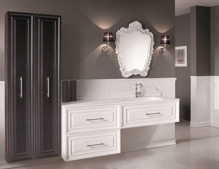 Composizione Platea #GaiaMobili #gaia #bathroom #bagno #bathroomideas #bath #madeinitaly #italian #bathroompics #architect #interior #interiordesign #designer #furniture #wood #laccato #ral #lacquered #arredamento #showroom #mirror #luxurybathroom #classic #classicbathroom #arredobagno #mobiledabagno #italianstyle