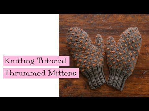 Thrummed Mittens - v e r y p i n k . c o m - knitting patterns and video tutorials