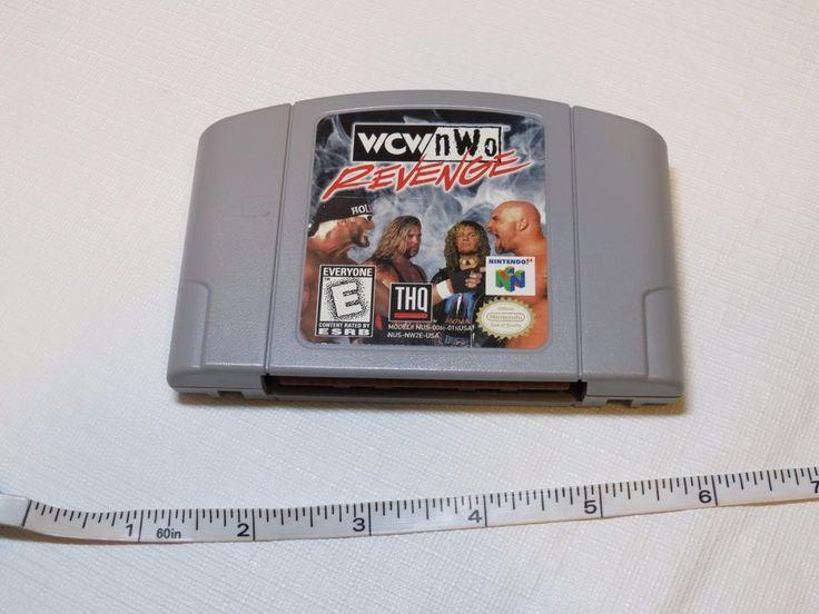 WCW NWO Revenge Nintendo 64 N64 wrestling RARE vintage video game ONLY CLEAN