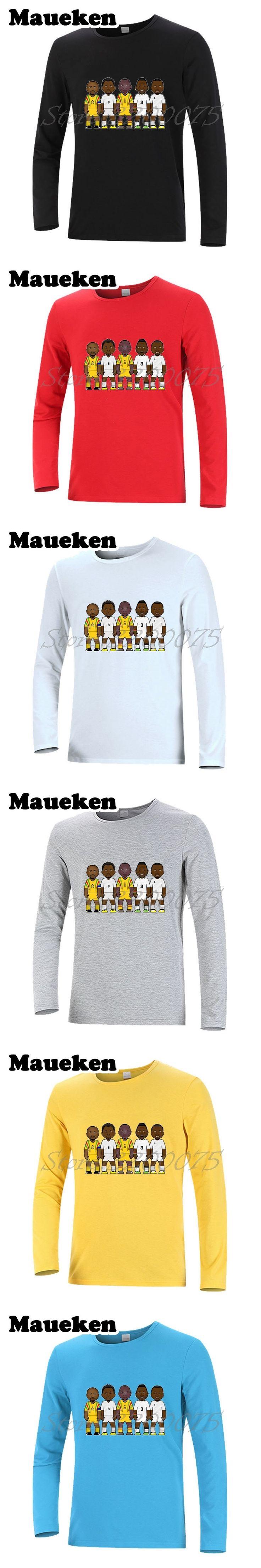 Men's Long Sleeve Legends Ghana Abedi Pele Samuel Kuffour Tony Yeboah Asamoah Gyan Michael Essien T-Shirt W17080618
