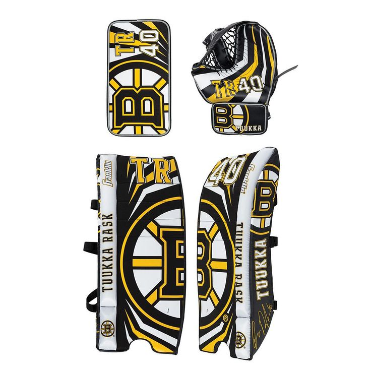 Franklin Youth Tuukka Rask Street Hockey Goalie Equipment Set, Multicolor