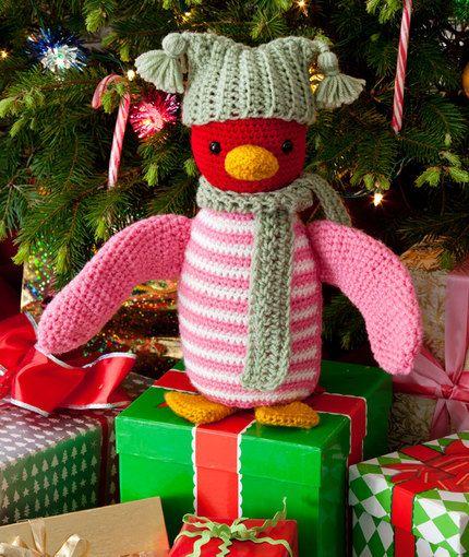 Red Heart Yarn Amigurumi Patterns : Huggable Penguin Free Crochet Pattern from Red Heart Yarns ...