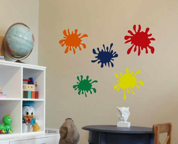 Playroom Wall Decor 12 best images about room decor on pinterest | paint splats