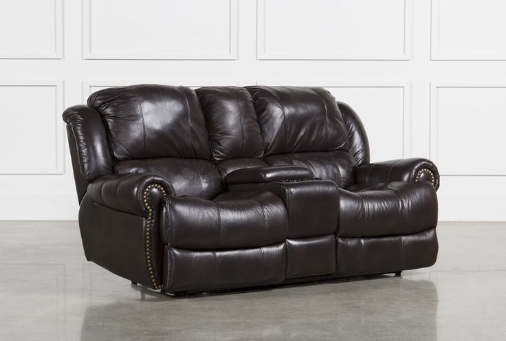 Capitol Power Dual Reclining Loveseat W/Console - Living Spaces