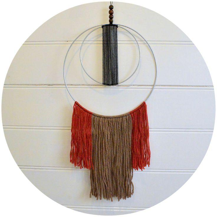 Wool Textile Wall Hanging / Little Bubalishka