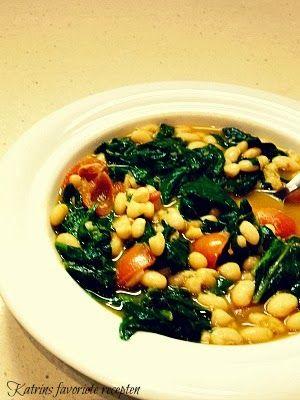 Witte bonen met spinazie