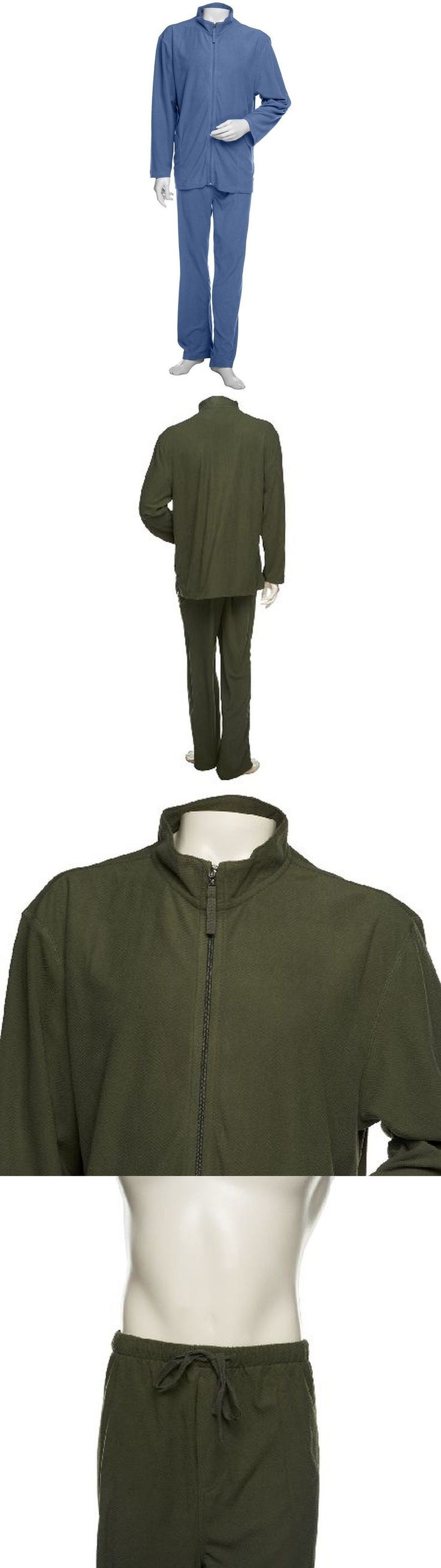 Sleepwear and Robes 11510: Stan Herman Elastic Waist Micro Fleece Mens Pajama Set Blue Xxl New A238015 -> BUY IT NOW ONLY: $31.97 on eBay!
