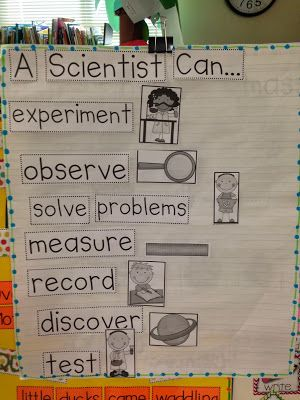 Chalk Talk: A Kindergarten Blog: What Can a Scientist Do?  Picture book: What is a Scientist? Good for Science centers.