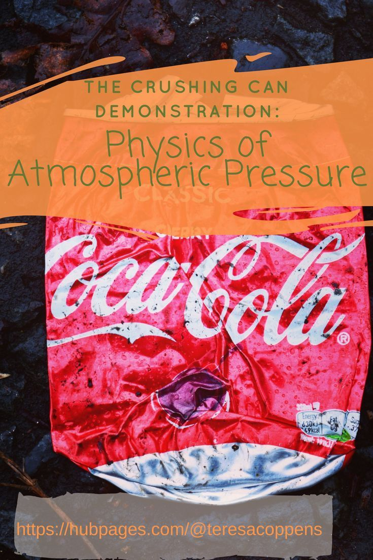 The Crushing Can Demonstration Physics Of Atmospheric Pressure Middle School Science Activities Physics High School Science Experiments