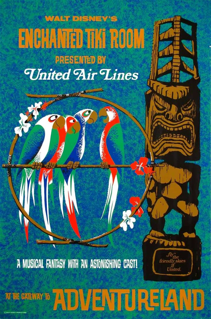Enchanted Tiki Room United Airlines