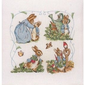 A Day in the Life of Peter Rabbit Anchor Beatrix Potter Counted Cross Stitch Kit - Blacksheepwool