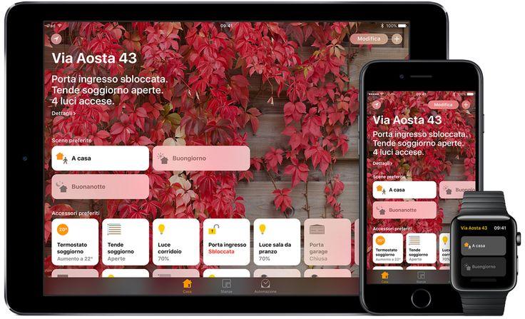 Apple – La casa intelligente diventa geniale Apple – La casa intelligente diventa geniale. La nuova app Casa ti permette di usare il dispositivo iOS che preferisci per gestire in assoluta sicurezza tutti i tuoi accessori HomeKit. Usa l'iPhone per spegnere le luci, o guarda dal tuo...