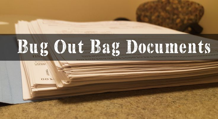 Bug Out Bag Documents: Best Guide On How To Make Them