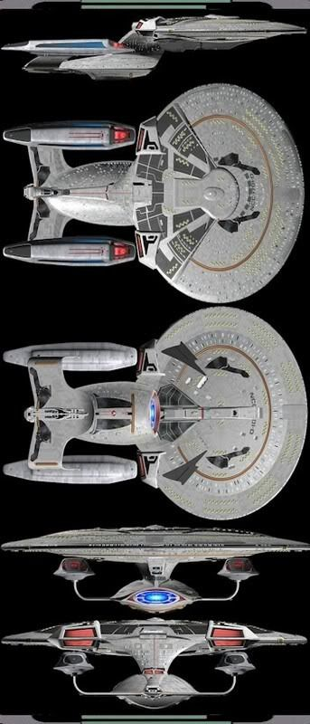 I love the original Galaxy class, but, this looks VERY Badass!!