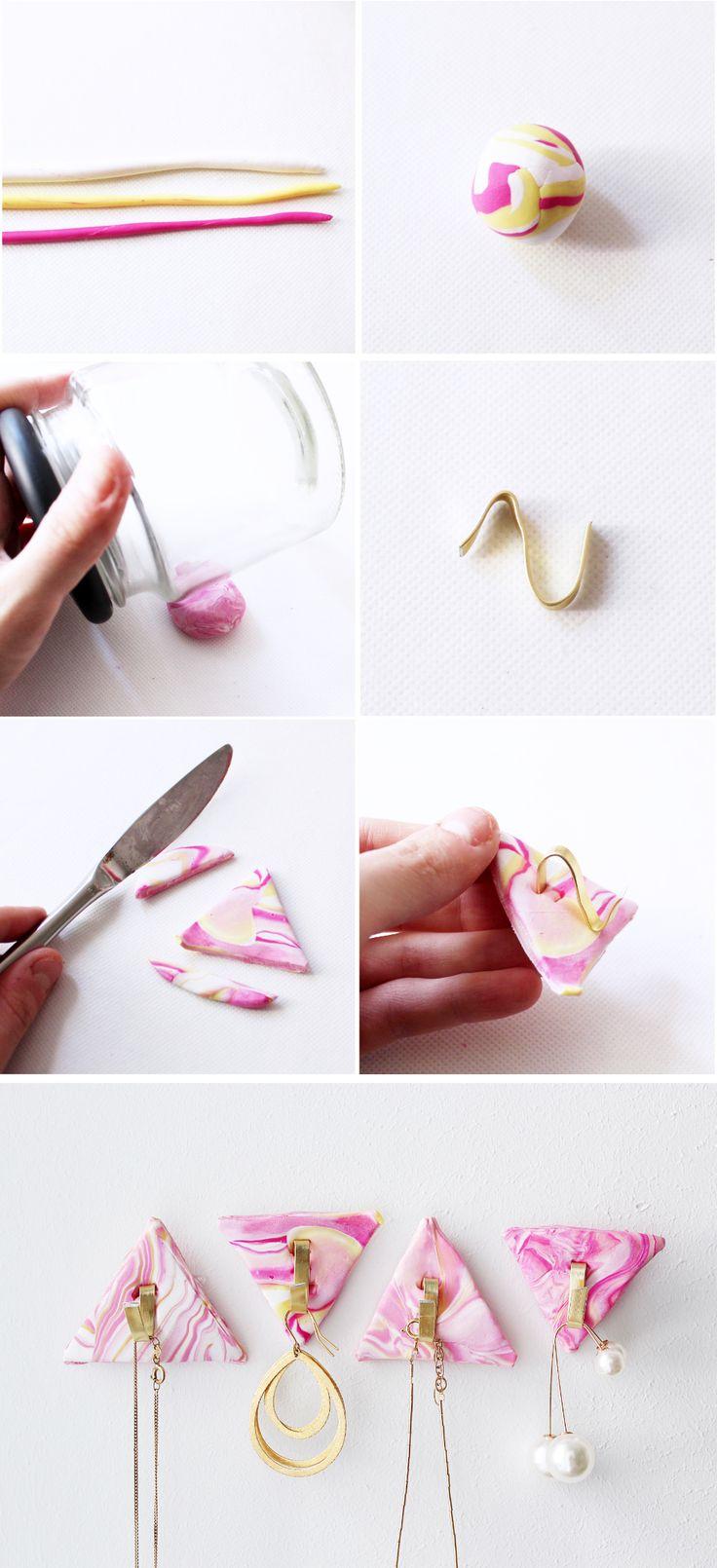DIY Schmuckständer im Marmorlook Selber Machen - Madmoisell DIY Blog über Deko, Mode und Wohnen