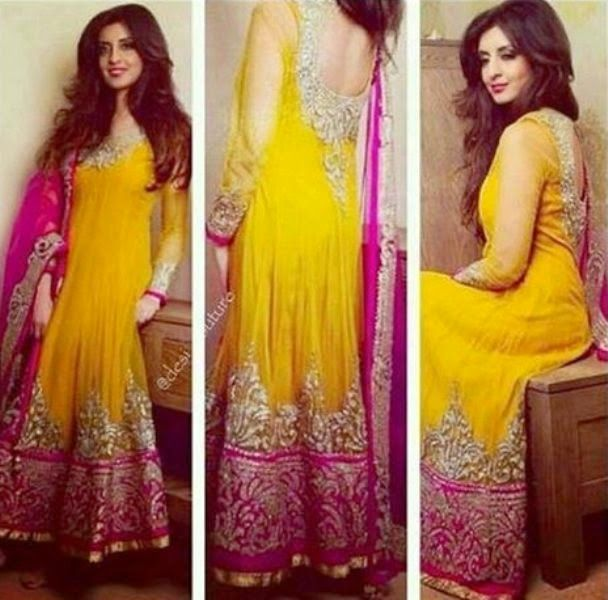 Mehndi Party What To Wear : Exclusive embroidered fancy beautiful wedding bridal