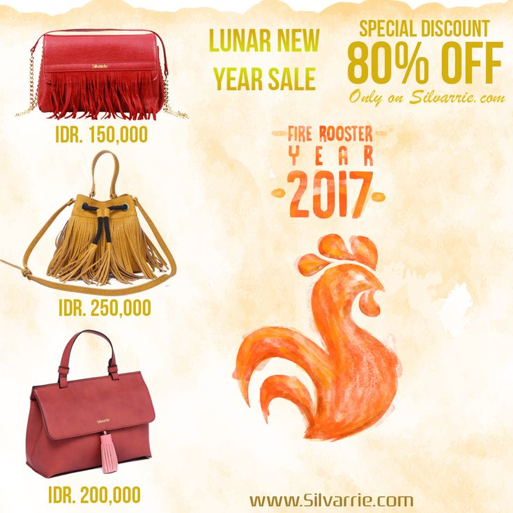 Lunar New Year Sale! Silvarrie Bags Special Discount 80%! Limited time only! grab it fast on Silvarrie.com. *While stock last  For more Info: WA 0811215106 📱BBM D3041DC5 📱LINE silvarriebags . . . #silvarrie #tasdiskon #diskontahunbaru #promoimlek #chinesenewyear #angpao #tasdiskon #taskulit #Silvarriebags #newyearsale #discounts #Tas #TasWanita #Promo #Diskon #Harbonas #harbolnas2017 #onlineshopping #sale #GIVEAWAY #cashback #belanja #shoping #shopingday #2017 #tahunbaru #FlashSale #angpao