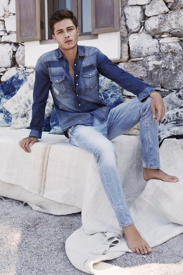 The latest men's denim styles. Layer on the denim for a cool/casual look | http://us.mavi.com