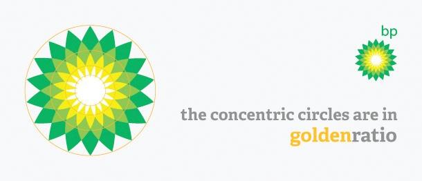 El logo de @BP y su proporción aúrea...