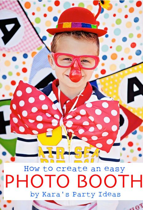 Photo booths are an easy and fun way to liven up any celebration or party! How to easily create your own via Kara's Party Ideas!