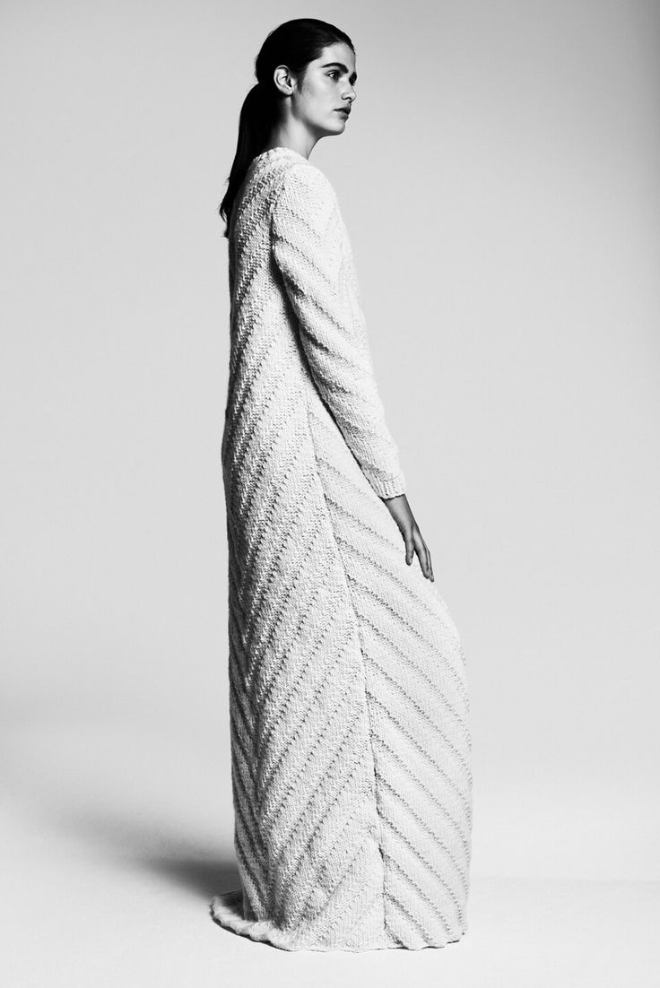 Contemporary Knitwear - chic maxi knitted dress // Nanna Van Blaaderen