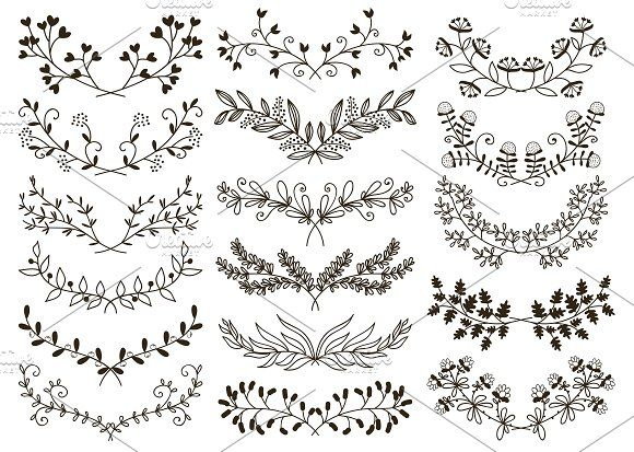 hand drawn floral by Microvector on Creative Marke…